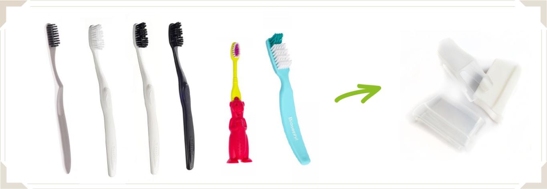 Brosses à dents mono-matière