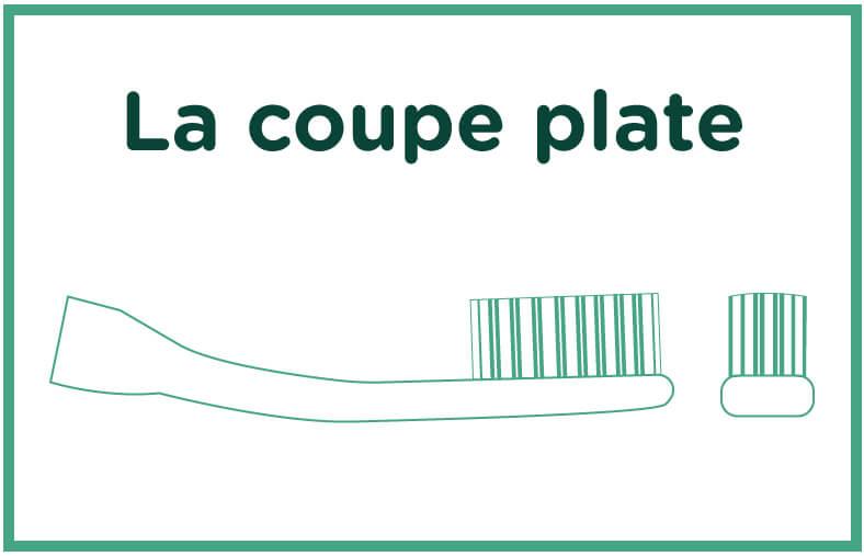 Brosse à dents coupe-plate